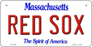 Red Sox Massachusetts Wholesale Novelty Metal Bicycle Plate BP-2090