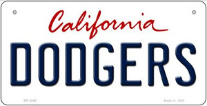 Dodgers California Wholesale Novelty Metal Bicycle Plate BP-2095
