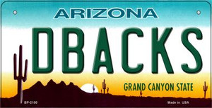 Dbacks Arizona Wholesale Novelty Metal Bicycle Plate BP-2100