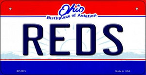 Reds Ohio Wholesale Novelty Metal Bicycle Plate BP-2073