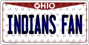 Indians Fan Ohio Wholesale Novelty Metal Bicycle Plate BP-10788