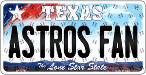 Astros Fan Texas Wholesale Novelty Metal Bicycle Plate BP-10797