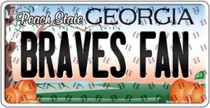 Braves Fan Georgia Wholesale Novelty Metal Bicycle Plate BP-10800