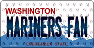 Mariners Fan Washington Wholesale Novelty Metal Bicycle Plate BP-10801