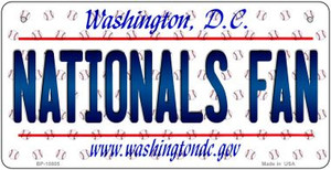 Nationals Fan Washington DC Wholesale Novelty Metal Bicycle Plate BP-10805