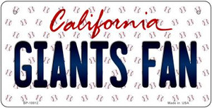 Giants Fan California Wholesale Novelty Metal Bicycle Plate BP-10812
