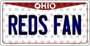 Reds Fan Ohio Wholesale Novelty Metal Bicycle Plate BP-10817