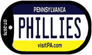 Phillies Pennsylvania Wholesale Novelty Metal Dog Tag Necklace DT-2076