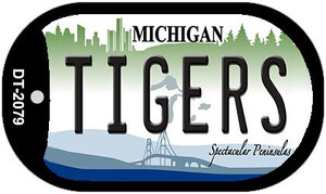 Tigers Michigan Wholesale Novelty Metal Dog Tag Necklace DT-2079