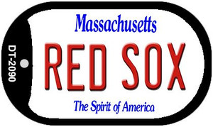Red Sox Massachusetts Wholesale Novelty Metal Dog Tag Necklace DT-2090