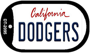 Dodgers California Wholesale Novelty Metal Dog Tag Necklace DT-2095