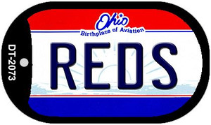 Reds Ohio Wholesale Novelty Metal Dog Tag Necklace DT-2073