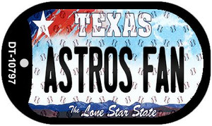 Astros Fan Texas Wholesale Novelty Metal Dog Tag Necklace DT-10797