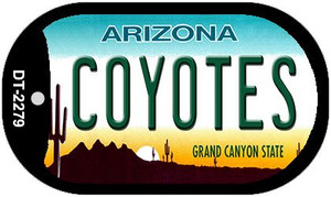 Coyotes Arizona Wholesale Novelty Metal Dog Tag Necklace DT-2279