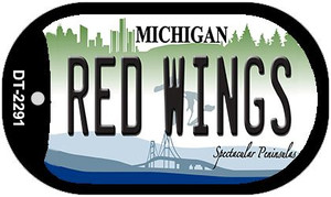 Red Wings Michigan Wholesale Novelty Metal Dog Tag Necklace DT-2291
