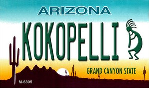 Arizona Kokopelli Wholesale Novelty Metal Magnet M-6895