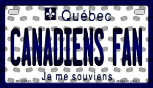 Canadiens Fan Quebec Wholesale Novelty Metal Motorcycle Plate MP-10823