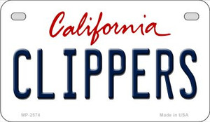 Clippers California Wholesale Novelty Metal Motorcycle Plate MP-2574