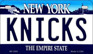 Knicks New York Wholesale Novelty Metal Motorcycle Plate MP-2582