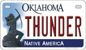 Thunder Oklahoma Wholesale Novelty Metal Motorcycle Plate MP-2583