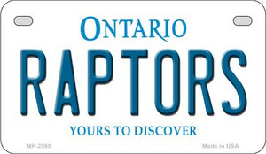 Raptors Ontario Wholesale Novelty Metal Motorcycle Plate MP-2590