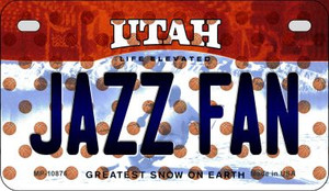 Jazz Fan Utah Wholesale Novelty Metal Motorcycle Plate MP-10876