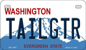 Tailgtr Washington Wholesale Novelty Metal Motorcycle Plate MP-3690