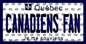 Canadiens Fan Quebec Wholesale Novelty Metal Bicycle Plate BP-10823