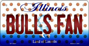 Bulls Fan Illinois Wholesale Novelty Metal Bicycle Plate BP-10851