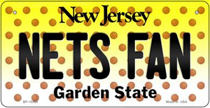Nets Fan New Jersey Wholesale Novelty Metal Bicycle Plate BP-10865
