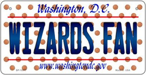 Wizards Fan Washington DC Wholesale Novelty Metal Bicycle Plate BP-10877