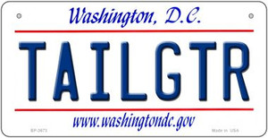 Tailgtr Washington DC Wholesale Novelty Metal Bicycle Plate BP-3673