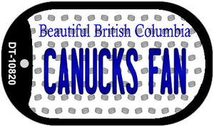 Canucks Fan British Columbia Wholesale Novelty Metal Dog Tag Necklace DT-10820