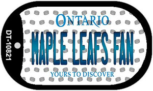 Maple Leafs Fan Ontario Wholesale Novelty Metal Dog Tag Necklace DT-10821