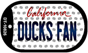 Ducks Fan California Wholesale Novelty Metal Dog Tag Necklace DT-10826