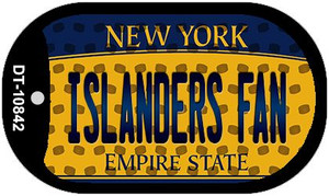 Islanders Fan New York Wholesale Novelty Metal Dog Tag Necklace DT-10842