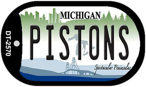 Pistons Michigan Wholesale Novelty Metal Dog Tag Necklace DT-2570