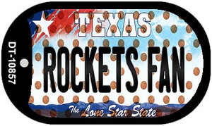 Rockets Fan Texas Wholesale Novelty Metal Dog Tag Necklace DT-10857