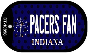 Pacers Fan Indiana Wholesale Novelty Metal Dog Tag Necklace DT-10858