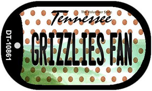 Grizzlies Fan Tennessee Wholesale Novelty Metal Dog Tag Necklace DT-10861