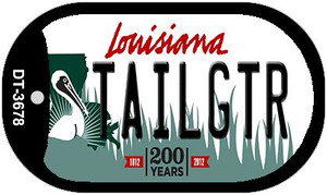 Tailgtr Louisiana Wholesale Novelty Metal Dog Tag Necklace DT-3678
