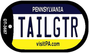 Tailgtr Pennsylvania Wholesale Novelty Metal Dog Tag Necklace DT-3687