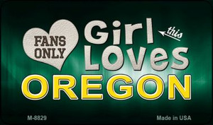 This Girl Loves Her Oregon Wholesale Novelty Metal Magnet M-8829