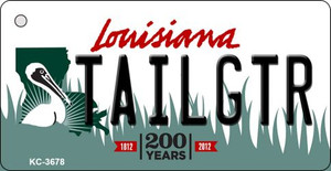 Tailgtr Louisiana Wholesale Novelty Metal Key Chain KC-3678