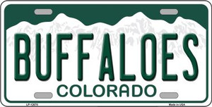 Buffaloes Wholesale Novelty Metal License Plate LP-12678