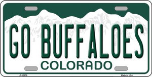 Go Buffaloes Wholesale Novelty Metal License Plate LP-12679