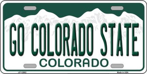 Go Colorado State Wholesale Novelty Metal License Plate LP-12682
