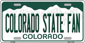 Colorado State Fan Wholesale Novelty Metal License Plate LP-12683