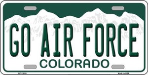 Go Air Force Wholesale Novelty Metal License Plate LP-12688