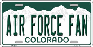 Air Force Fan Wholesale Novelty Metal License Plate LP-12689